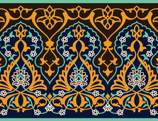 وکتور طرح کاشی کاری اسلامی شماره ۱۱۲