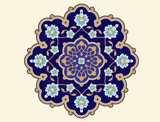 وکتور طرح کاشی کاری اسلامی شماره ۱۱۴
