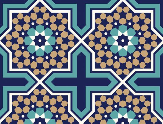 وکتور طرح کاشی کاری اسلامی شماره ۱۱۶