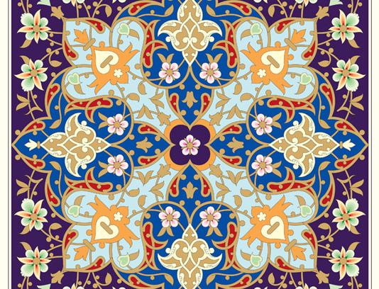 وکتور طرح کاشی کاری اسلامی شماره ۱۱۷
