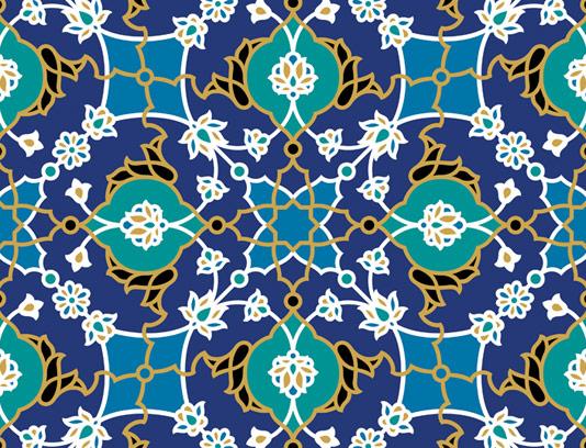 وکتور طرح کاشی کاری اسلامی شماره ۱۱۸