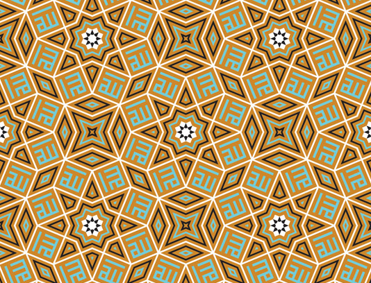 وکتور طرح کاشی کاری اسلامی شماره ۱۱۹