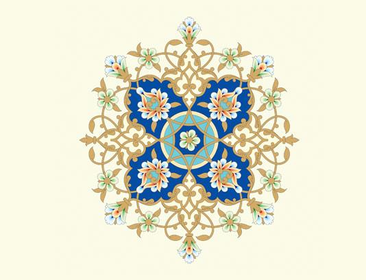 وکتور طرح کاشی کاری اسلامی شماره ۱۲۰