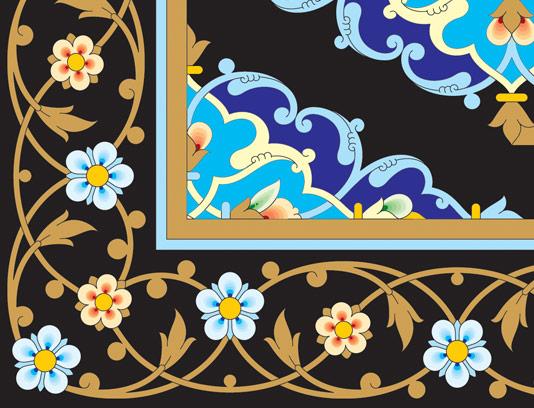 وکتور طرح کاشی کاری اسلامی شماره ۱۲۱
