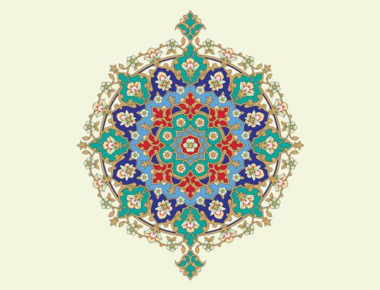وکتور طرح کاشی کاری اسلامی شماره ۱۲۲
