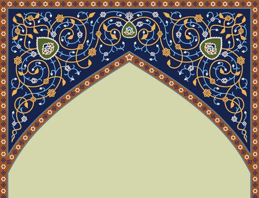وکتور طرح کاشی کاری محراب مسجد شماره ۰۵