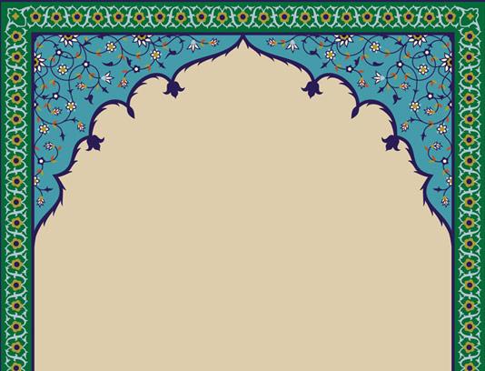 وکتور طرح کاشی کاری محراب مسجد شماره 06