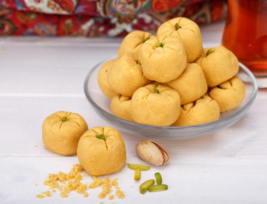 عکس با کیفیت شیرینی نخودچی ایرانی