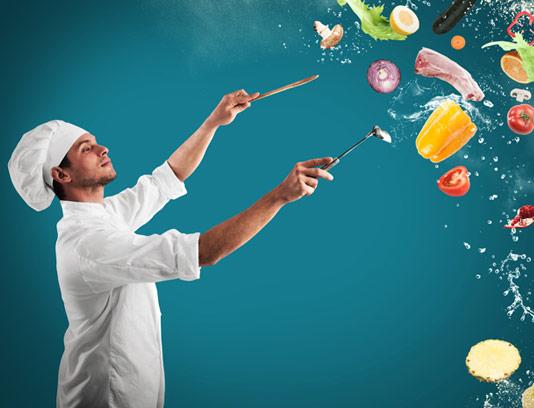 عکس با کیفیت مفهومی سرآشپز حرفه ای