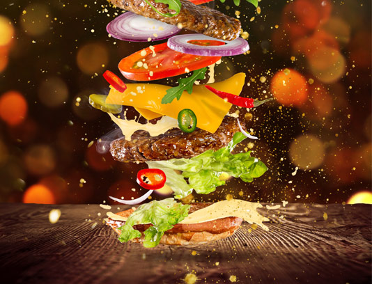 عکس با کیفیت ساندویچ سوپر برگر
