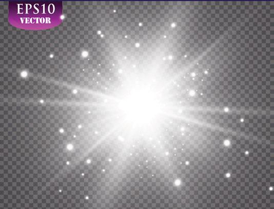 وکتور طرح افکت نور بدون پس زمینه شماره ۰۳