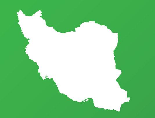 وکتور نقشه فلت کشور ایران