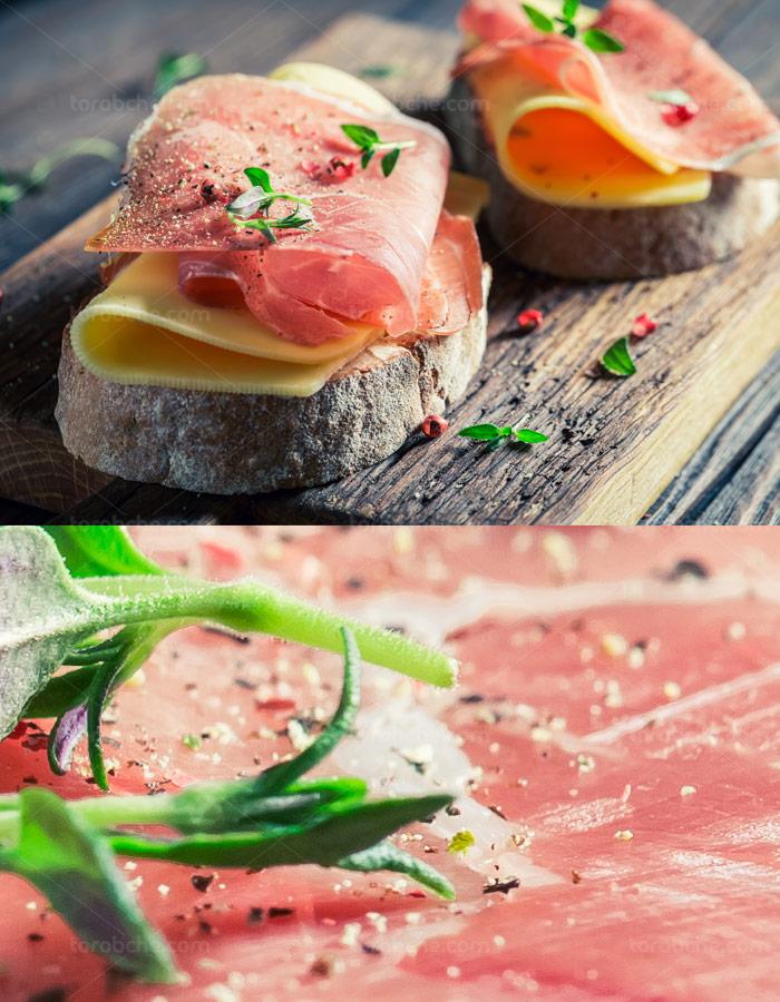عکس با کیفیت ژامبون گوشت اشتها آور