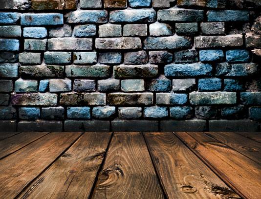 تکسچر دیوار آجری و زمینه ی چوبی شماره ۰۳