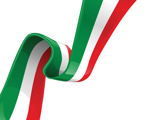 وکتور نوار سه رنگ پرچم ایران اسلامی شماره 02