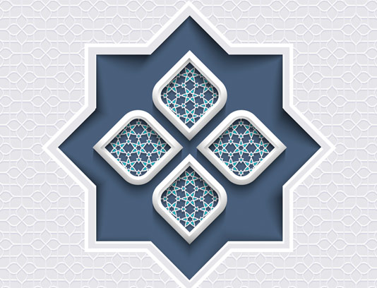 وکتور طرح نماد و المان اسلامی شماره ۲۴