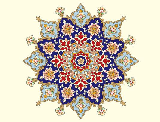 وکتور طرح کاشی کاری اسلامی شماره ۱۲۳