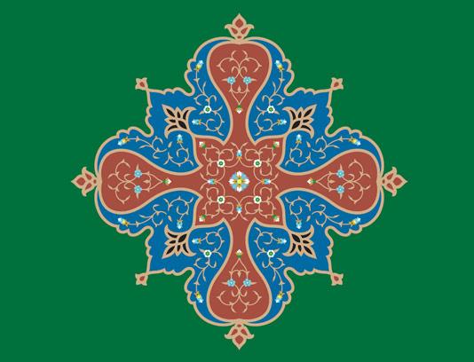 وکتور طرح کاشی کاری اسلامی شماره ۱۲۴