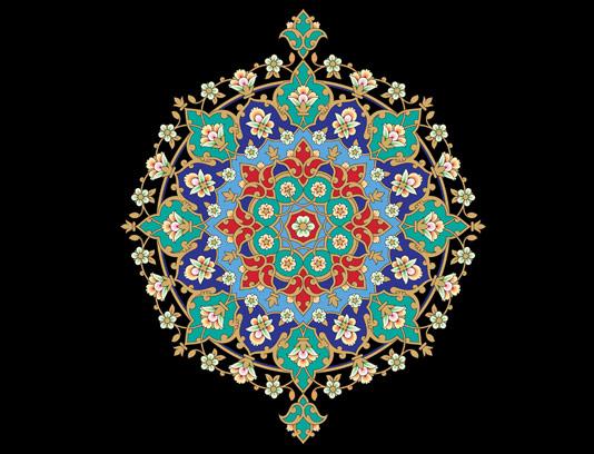 وکتور طرح کاشی کاری اسلامی شماره ۱۲۵