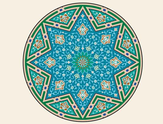 وکتور طرح کاشی کاری اسلامی شماره ۱۲۶