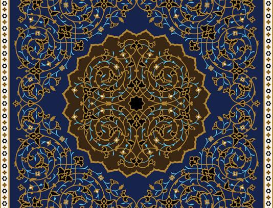 وکتور کاشی کاری اسلامی شماره ۱۲۸