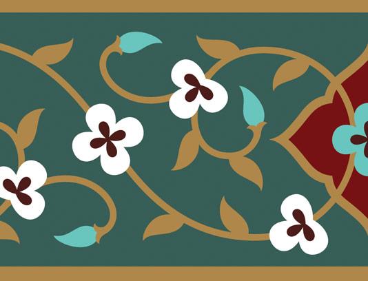 وکتور طرح کاشی کاری اسلامی شماره 129