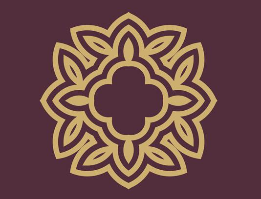 وکتور طرح نماد لوگوی مونوگرام لاکچری شماره ۱۶