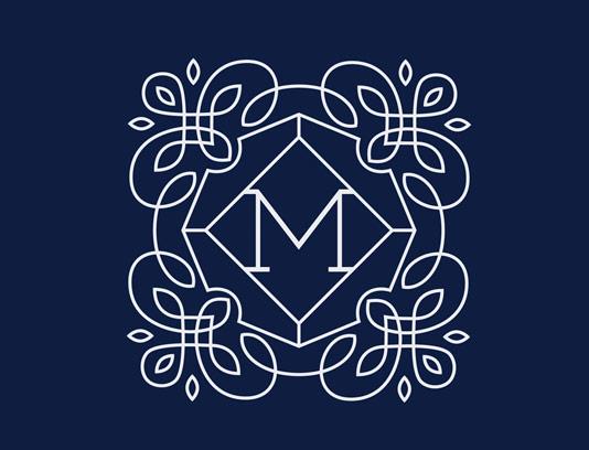 وکتور لوگوی مونوگرام لاکچری شماره ۱۷