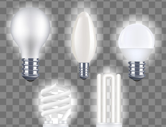 وکتور لامپ کم مصرف، لامپ LED، لامپ 100 وات