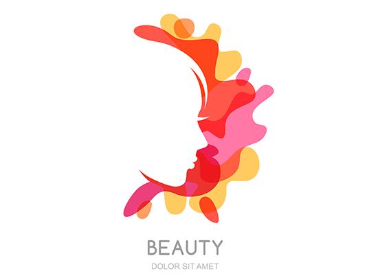 وکتور لوگوی کاراکتر آرایش و زیبایی