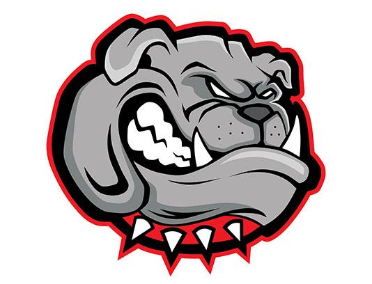 وکتور کاراکتر نماد سگ نژاد بولداگ