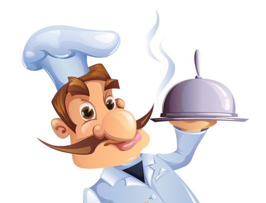 وکتور کاراکتر مرد آشپز حرفه ای EPS