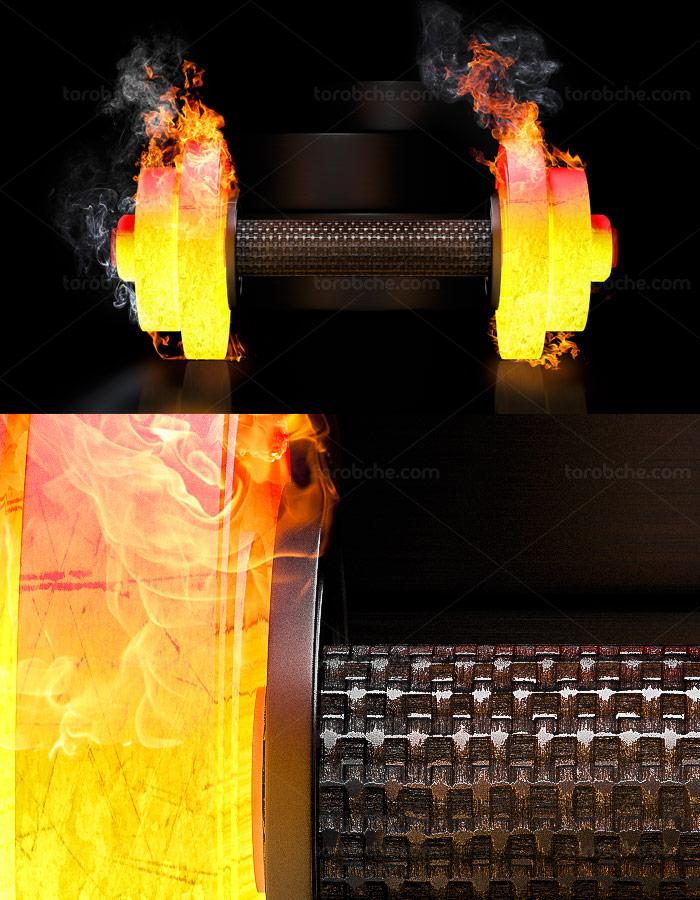 عکس با کیفیت دمبل بدنسازی آتشی
