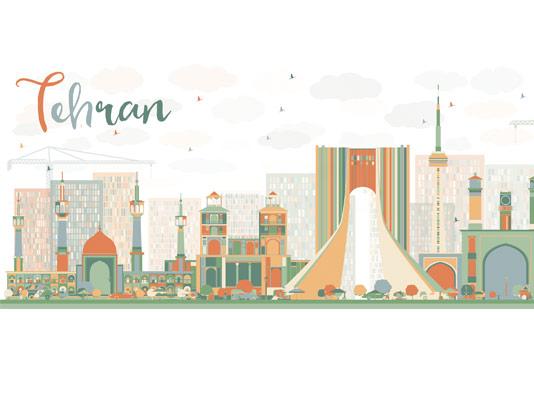 وکتور فلت طرح تهران