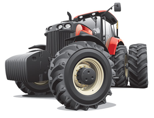 وکتور طرح ابزار و ماشین الات کشاورزی