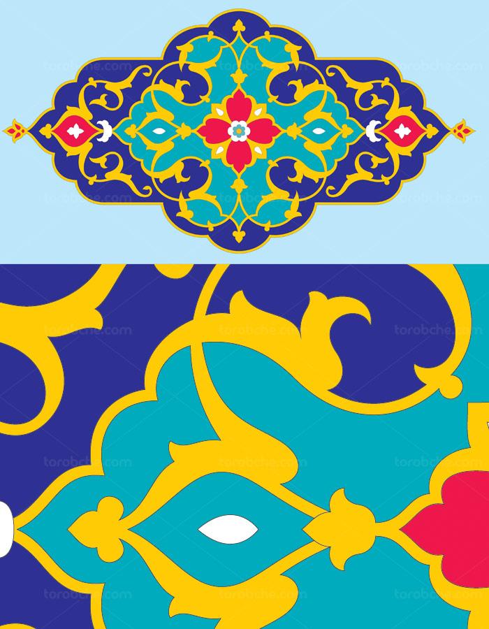 وکتور طرح نماد و المان اسلامی شماره ۲۸