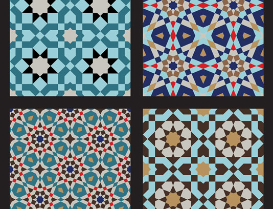 وکتور طرح کاشی کاری اسلامی شماره ۱۳۱