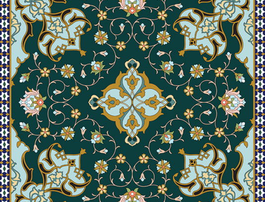 وکتور طرح کاشی کاری اسلامی شماره ۱۳۲