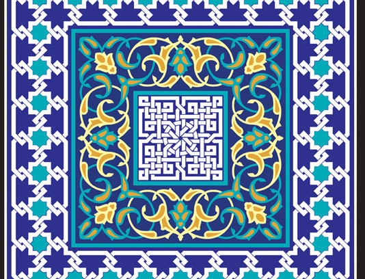 وکتور طرح کاشی کاری اسلامی شماره ۱۳۴