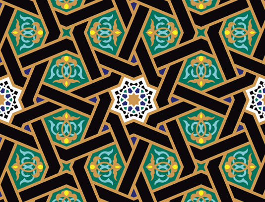 وکتور طرح کاشی کاری اسلامی شماره ۱۳۷