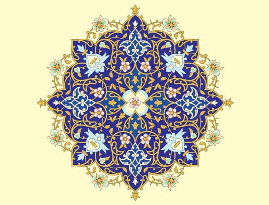وکتور طرح کاشی کاری اسلامی شماره ۱۳۹