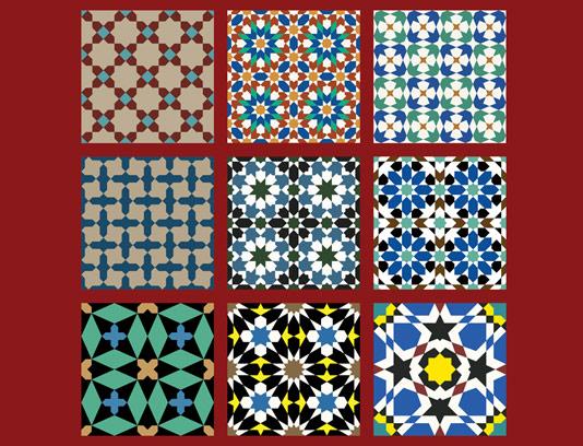 وکتور طرح کاشی کاری اسلامی شماره ۱۴۰