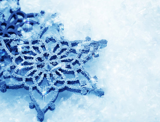 عکس با کیفیت بلورهای برف و زمستان