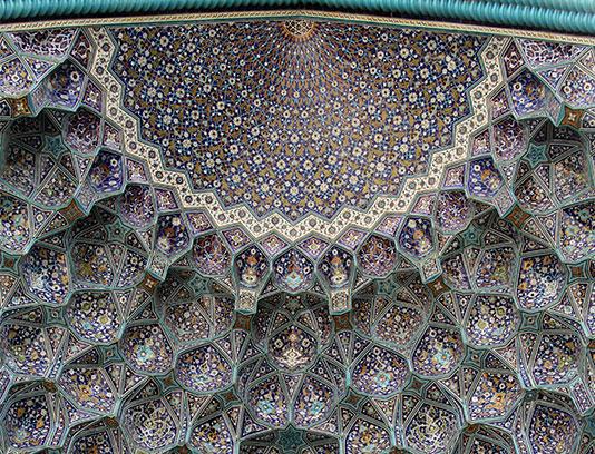 عکس با کیفیت دیواره ی مسجد امام خمینی اصفهان