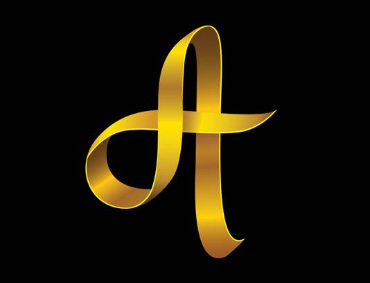 وکتور لوگوی حروف لاتین حرف A شماره ۰۲