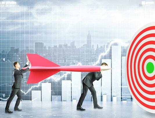 عکس با کیفیت کسب و کار مفهومی پیش به سوی هدف