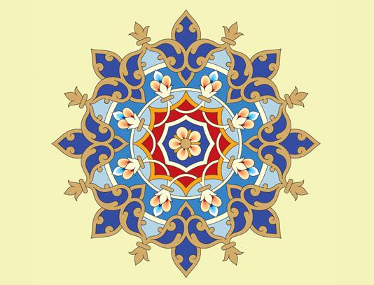 وکتور طرح کاشی کاری اسلامی شماره 148