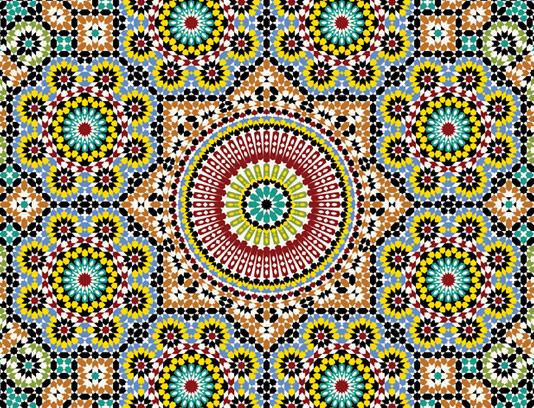 وکتور طرح کاشی کاری اسلامی شماره ۱۴۹