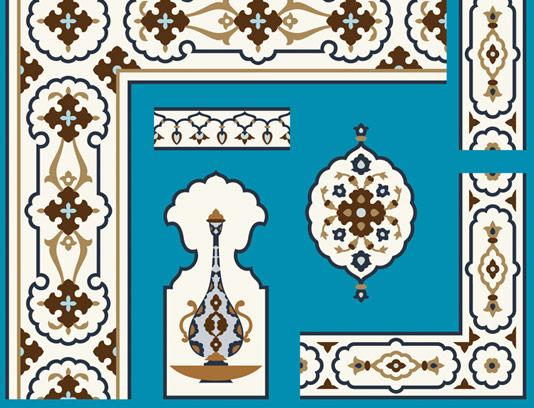 وکتور طرح کاشی کاری اسلامی شماره ۱۵۰