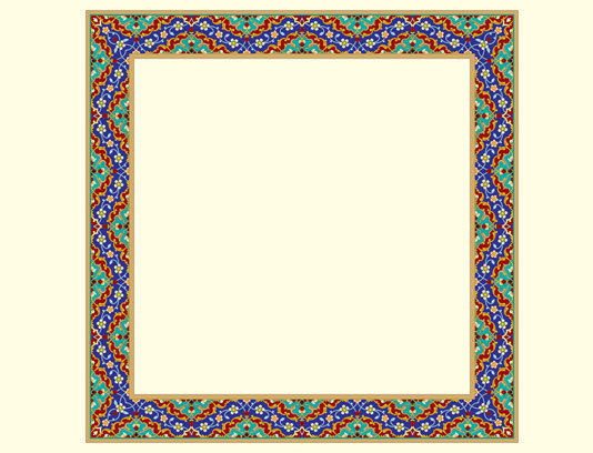 وکتور طرح قاب و حاشیه اسلیمی شماره ۰۲